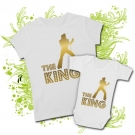 Camiseta MAMA ELVIS THE KING GOLD + Body BEBE ELVIS THE KING WC
