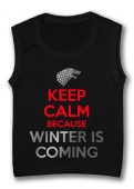 Camiseta sin mangas KEEP CALM BECAUSE WINTER IS COMING TB.