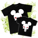 Camiseta PAPA PUNISHER MICKEY + Camiseta NIÑOS PUNISHER MICKEY BC