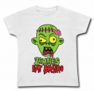 Camiseta ZOMBIES EAT BRAINS WC