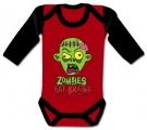 Body bebé ZOMBIES EAT BRAINS RL
