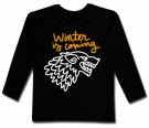 Camiseta WINTER IS COMING PAINT BL