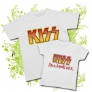 Camiseta PAPA KISS PAINT + CAMISETA NIÑOS KISS PAINT WC