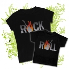 Camiseta MAMA ROCK & ROLL + CAMISETA NIÑOS ROCK & ROLL BC