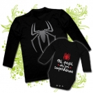 Camiseta PAPA SPIDERMAN + Body bebe MI PAPI ES UN SUPERHEROE BL