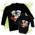 Camiseta PAPA BORN TO RIDE + Body bebé BORN TO RIDE BL