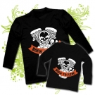 Camiseta PAPA BORN TO RIDE + Camiseta NIÑO BORN TO RIDE BL