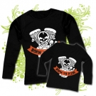 Camiseta MAMA BORN TO RIDE + Camiseta NIÑOS BORN TO RIDE BL