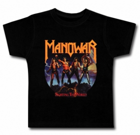 Camiseta MANOWAR FIGHTING THE WORLD BC