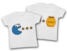 Camisetas gemelos COOKIE MONSTER WC