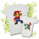 Camiseta MAMA MARIO BROS + Body MARIO BROS WC