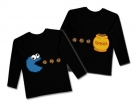 Camisetas gemelos COOKIE MONSTER BL