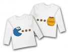 Camisetas gemelos COOKIE MONSTER WL