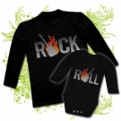 Camiseta PAPA ROCK & ROLL + BODY BEBE ROCK & ROLL BL