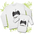 Camiseta PAPA PLAYER ONE + body PLAYER TWO WL