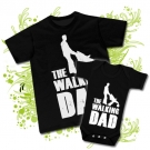 Camiseta PAPA walking DAD + Body walking DAD BC