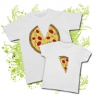 Camiseta PAPA PIZZA + Camiseta PORCIÓN PIZZA WC