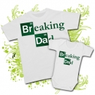 Camiseta PAPA BREAKING DAD + Body BREAKING DAD WC