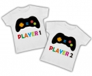 Camisetas gemelos PLAYER 1 & PLAYER 2 WC