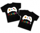 Camisetas gemelos PLAYER 1 & 2 BC