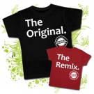 Camiseta PAPA THE ORIGINAL BC + Camiseta THE REMIX RC