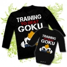 Camiseta PAPA TRAINING TO BE A GOKU + Body TRAINING TO BE A GOKU BL
