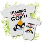 Camiseta PAPA TRAINING TO BEAT GOKU + Body TRAINING TO BEAT GOKU WC