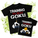 Camiseta PAPA TRAINING TO BEAT GOKU + Camiseta TRAINING TO BEAT GOKU BC