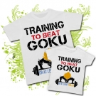 Camiseta PAPA TRAINING TO BEAT GOKU + Camiseta TRAINING TO BEAT GOKU WC