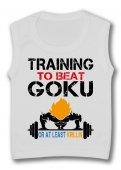 Camiseta sin mangas TRAINING TO BEAT GOKU TW