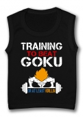 Camiseta sin mangas TRAINING TO BEAT GOKU TB