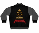 Chaqueta KEEP CALM AND LISTEN METALLICA (black)