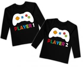 Camisetas gemelos PLAYER 1 + PLAYER 2 BL  50e2e4efc0f52