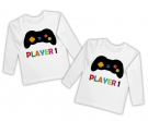 Camisetas gemelos PLAYER 1 + PLAYER 2 WL