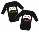Bodies para gemelos PLAYER 1 + PLAYER 2 BL