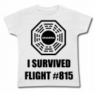 Camiseta LOST I SURVIVED FLIGHT WC
