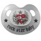 Chupete ROCK STAR BABY HEART (retro)