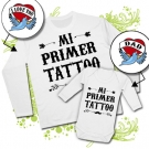 Camiseta PAPA MI PRIMER TATTOO (I LOVE YOU) + Body MI PRIMER TATTOO (DAD) WL