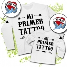 Camiseta PAPA MI PRIMER TATTOO (I LOVE YOU) + Camiseta MI PRIMER TATTOO (DAD) WL