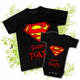 CAMISETA SUPER PAPI V + BODY SUPER PAPI BC