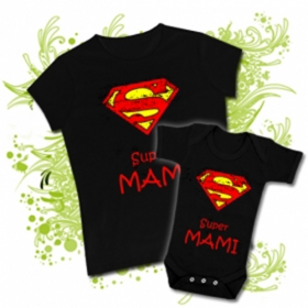 CAMISETA SUPER MAMI II + BODY SUPER MAMI BC