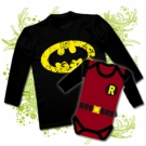 Camiseta PAPA BATMAN + Body bebé ROBIN RL