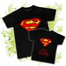 Camiseta PAPA SUPERMAN + Camiseta SUPER PAPI BC