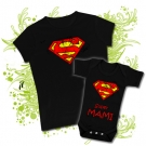 Camiseta MAMA SUPERMAN + Body SUPER MAMI BC