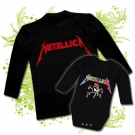 Camiseta PAPA METALLICA + Body METALLICA COLORS BL