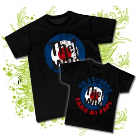 CAMISETA PAPA THE WHO X + CAMISETA YO ESCUCHO THE WHO COMO MI PAPI BC