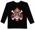 Camiseta ONE PIECE FLAMES BL