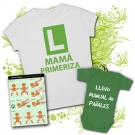 Camiseta MAMA PRIMERIZA WC + Body LLEVO MANUAL DE PAÑALES VC