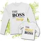 Camiseta MAMA LADY THE BOSS + Camiseta THE MINI BOSS WL