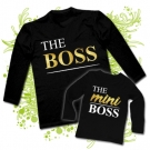 Camiseta PAPA THE BOSS + Camiseta THE MINI BOSS BL